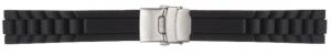Ремень для часов каучук на клипсе ВС502-20