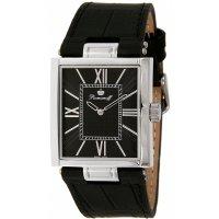 Квадратные мужские часы с черным циферблатом